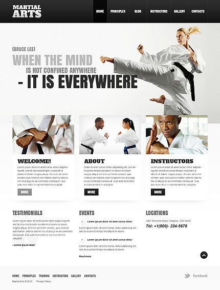 Martial Arts Website Template 6